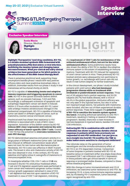Highlight Therapeutics Interview
